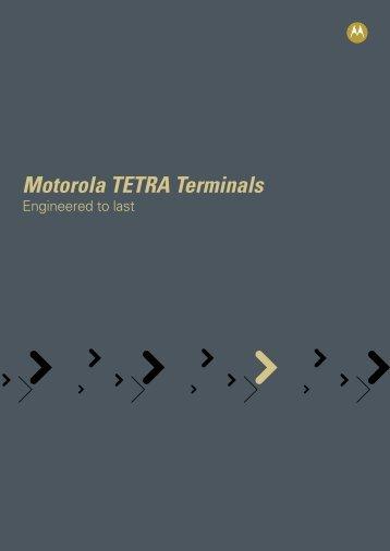 Tetra Terminals Brochure - Motorola Solutions