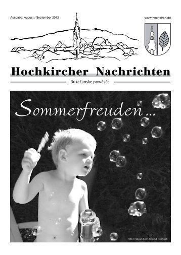 Neues aus den Vereinen - Gemeindeverwaltung Hochkirch