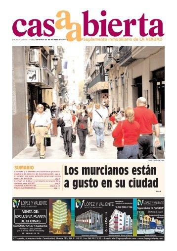 SUMARIO Los murcianos están a gusto en su ciudad - laverdad.es