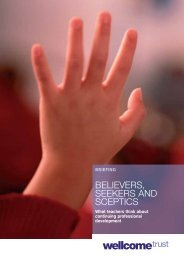 'Believers, Seekers and Sceptics: What teachers ... - Wellcome Trust