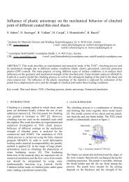 Influence of plastic anisotropy on the mechanical behavior of ...