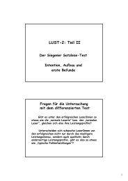 LUST-2: Teil II Der Siegener Satzlese-Test Intention, Aufbau und ...