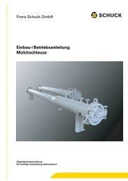 Molchschleuse SMO | Einbau- und Betriebsanleitung | DE | PDF