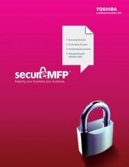 Download Security PDF - Toshiba