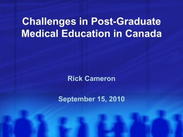Challenges in Post-Graduate Medical Education in Canada