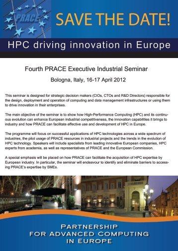FLYER - PRACE Industrial Seminar 2012