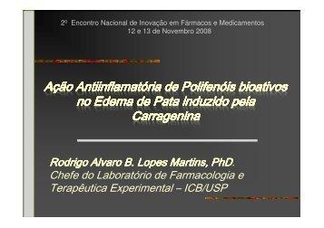 Rodrigo Alvaro B. Lopes Martins, PhD. - IPD-Farma