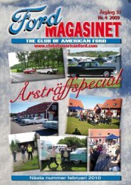Sid 1 Fordmagasinet nr 4 • 2009 - The Club of American Ford