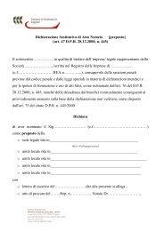 Dichiarazione Sostitutiva di Atto Notorio [preposto] (art. 47 D.P.R. ...