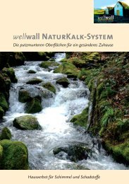 Gesund wohnen wellwall NaturKalk-System