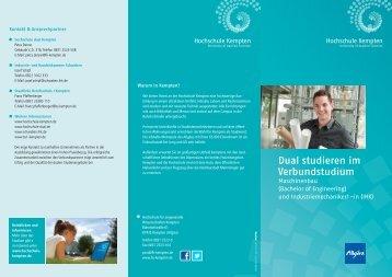 Maschinenbau dual - Hochschule Kempten