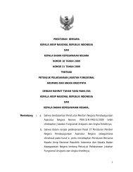 Peraturan Bersama Kepala ANRI dan BKN No. 18 dan No. 21 ...