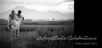 Unforgettable Celebrations - Alila Hotels and Resorts