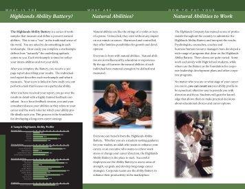 THC Brochure.qxd - The Highlands Company