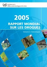 Rapport mondial sur les drogues 2005 - United Nations Office on ...