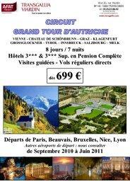 Circuit Groupe Grand Tour d'Autriche Avion - Afat