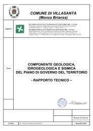 componente geologica, idrogeologica e sismica del piano di ...