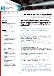 POS Link – saite ar kasi (POS)