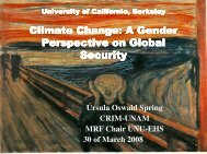 Climate Change: A Gender Perspective on Global Security