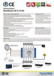 Cyfrowy Ekspert MultiSwitch CE 5/8 HD - SatTeam