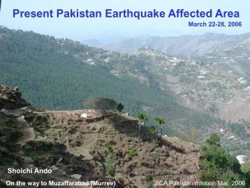 Present Pakistan Earthquake Affected Area