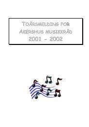 Årsmelding for 1999-2000 - Norsk musikkråd