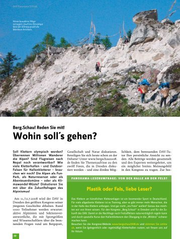 Reden Sie mit! Wohin soll´s gehen? - Deutscher Alpenverein