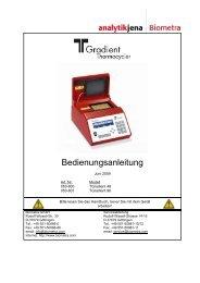 Bedienungsanleitung - Biometra