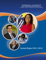 Annual Report 2011-2012 - Pepperdine University