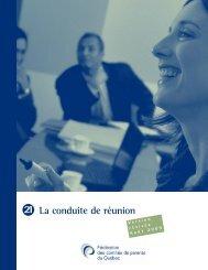 21 La conduite de réunion - Fédération des comités de parents du ...