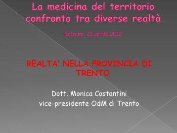 Relazione della Dott.ssa Constantini - Ordinemedici.bz.it