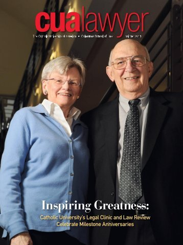 Inspiring Greatness: - Law Clinics - Columbus School of Law