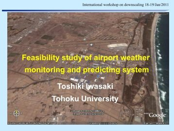 Feasibility of a monitoring and predicting system of the airport weather