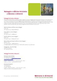 Noleggio e officine biciclette a Merano e dintorni - Meraner Land
