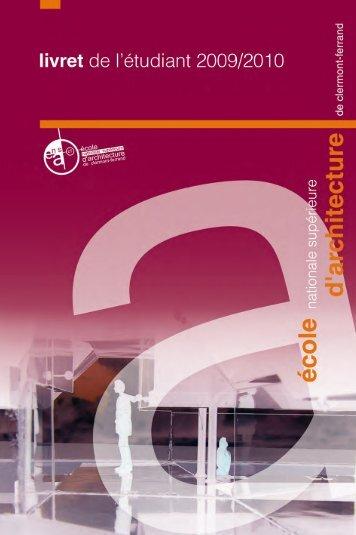 programme pédagogique - Ecole Nationale Supérieure d ...