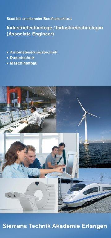Flyer zur Ausbildung zum Industrietechnologen - Siemens Technik ...
