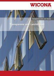Transparenz und Leichtigkeit - Wicona