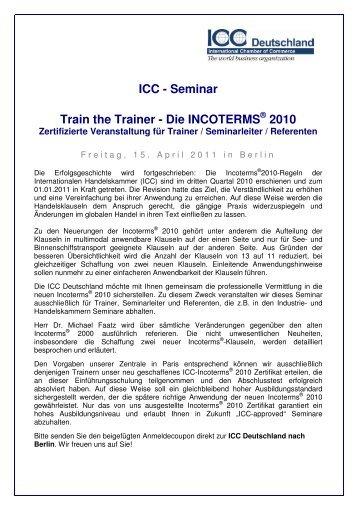 ICC - Seminar Train the Trainer - Die ... - ICC Deutschland