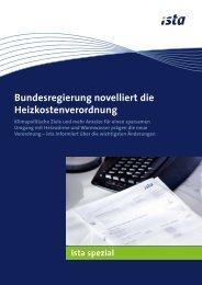 Novellierung der Heizkostenverordnung