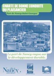 CHARTE DE BONNE CONDUITE DU PLAISANCIER - Ville de Nancy