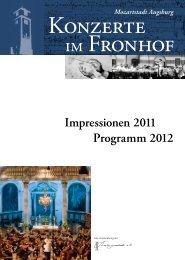 Impressionen 2011 Programm 2012 - Konzerte im Fronhof