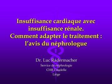 Insuffisance cardiaque avec insuffisance renale. A - Service de ...