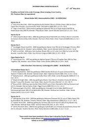 International Eventing Results - Horse Sport Ireland