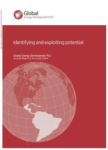 Annual Report 2004 - Global Energy Development