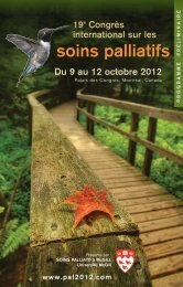 Programmes - Congrès international sur les soins palliatifs