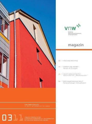 VNW-Magazin Ausgabe 3, 2011 (Seiten 1 und 56) - gas control