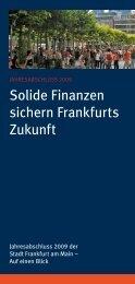 Solide Finanzen sichern Frankfurts Zukunft - Frankfurt am Main