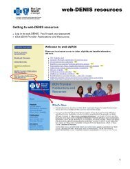 web-DENIS resources BCN - e-Referral - Blue Cross Blue Shield of ...