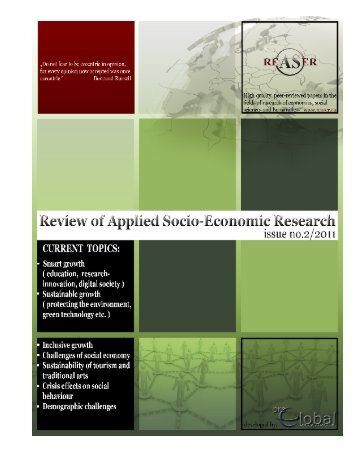 Volume 2, ISSUE2/2011 - Review of Applied Socio-Economic ...