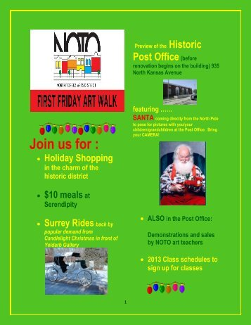 Join us for : - NOTO Arts District